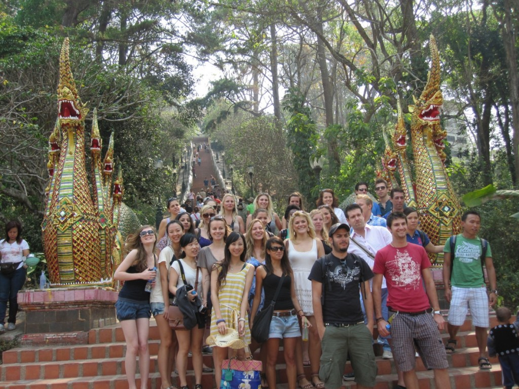 2011/2012 NHTV Master in Tourism Destination Management student during their field research project in Chiang Mai