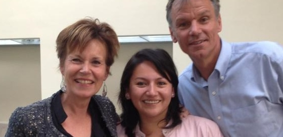 Ana Cueva with Dr. van Hoof and his wife