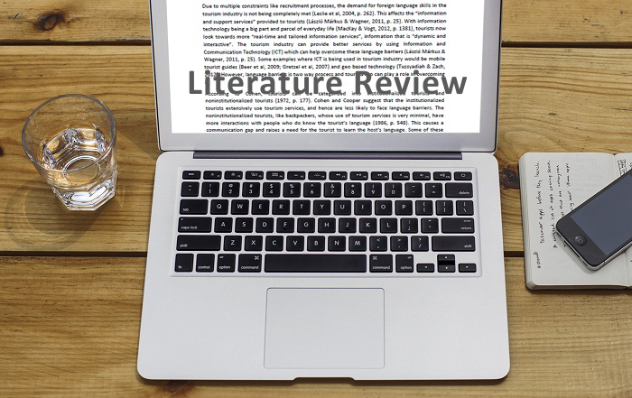 Literature review tourism example