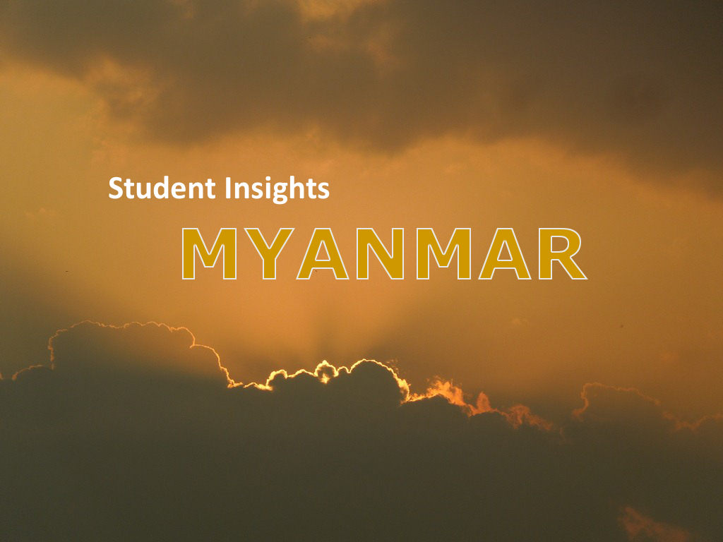 Student Insights: an Indian view on the field research in Myanmar